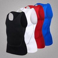 Wholesale The latest version of men s fitness vest toning tights workout clothes for men Muscle shirt Fitness sweatshirt