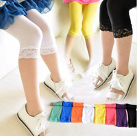 Wholesale 2014 new arrival girls candy color lace tights baby girl fashion tights children summer silk tight