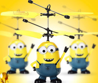 Wholesale High quality Mini RC Helicopter Despicable Me Minion Helikopter Remote Control Toys Aircraft Model Toy Children Kids Boy Toys
