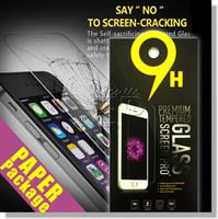 Precio de Pantallas digitales-Para Iphone 7 LG Aristo V3 6s más Samsung S7 S6 vidrio templado protector de pantalla Anti-huella digital para Iphone 5 LG V20 Paquete de papel