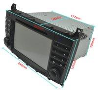 AS-8842 para la navegación 2din 7 del coche DVD de WINCE CLK-W209 Wince6.0 DVD con Bluetooth IPOD TV Radio / RDS AUX EN DVR Mirrorlink