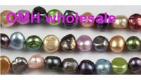 Wholesale OMH mm Natural Cultured Freshwater Pearl Beads Grade mixed color Great for Jewelry Making Loose Beads ZL672