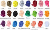 Wholesale Women Scarves Pure Linen Fold Super Long Big Shawl Women Sexy Wraps Fashion Cheap Multi Color Pashmina Cashmere Solid Shawl Soft Fringes