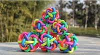 Wholesale Dog Toys Dog Accessories Bell Pet Ball Rainbow Color Rubber Material Toy Hot Sale Free Ship