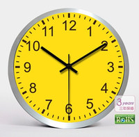 aluminium wall clock - 2014 HOT Selling New Style Inch Fashion Aluminium Metal Stainless Steel Quiet Wall Clock Gift Clock