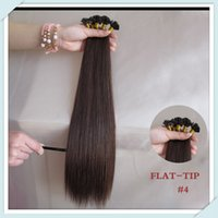 "Cheap New Arrival Flat-Tip Pre-bonded Premium Human Hair Extensions (50 Strands Pack) 18"" 45cm Natural Black 613# Cheap Human Hair"