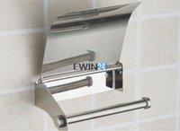 Wholesale Stainless Steel Paper Holder Roll Tissue Holder Wall Mounted For Bathroom Toilet Roll Paper Tissue Holder Box