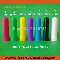 Wholesale FedEx Free to USA Blank Nasal Inhaler Sticks Plastic Blank Aroma Nasal Inhalers for DIY essential oil Best Cotton Wicks