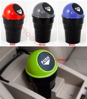 Wholesale Mini Office Home Auto Vehicle Car Trash Rubbish Bin Can Garbage Dust Case Holder