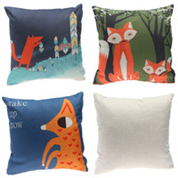 Wholesale Good Quality Pillow Cases Cartoon Fox Print Cushion Covers Nice Home Supplies For Home Decoration EXO10