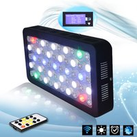 aquarium tank light - Wireless W LED Aquarium Light Full Spectrum with Timer Marine Fish Tank Reef Coral Growth Remote Controller