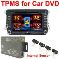 car alarm system - Tire Pressure Monitoring System TPMS Video output Receiver display on Car DVD Support High Low Pressure Temperature Alarm