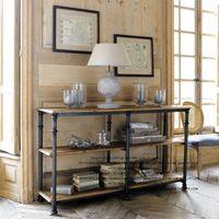 wood bookcase - Fano French country style wrought iron furniture LOFT do the old three shelf bookcase shelf vestibule