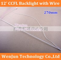 Wholesale Super light mm x mm inch ccfl lamp ccfl tube ccfl backlight with wire harness cable No welding CCFL LCD lamp order lt no track