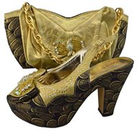 Wholesale wedding shoes matching bags to match with with high quality GF09 in women s pumps italian fashion designs