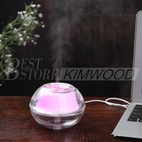 beauty twist - Free DHL Beauty Backlight Crystal USB Air Ultrasonic Humidifier Fogger Aroma Mist Maker Aromatherapy Essential for Home Office