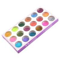 Wholesale good quality Colors Nail Art Glitter Powder Dust For UV GEL Acrylic Powder Decoration Tips box
