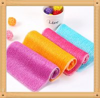 Wholesale Bamboo Fiber Cleaning Cloth Magic Multifunctional Cloth Not off The Fiber Rag Without Detergent Bamboo Fiber not sticky oil Six color