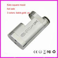 Cheap Kato Square Mod Mechanical Mod Battery 18650 Mod KATO Vapor Mod Box Mod for Rocket-RBA, Kayfun,iclear 30,icear30s dhl
