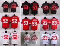49ers - NEW Patrick Willis NaVorro Bowman Reggie Bush ers Jerseys Cheap discount football jerseys Custom Limited Elite Game Embroidery