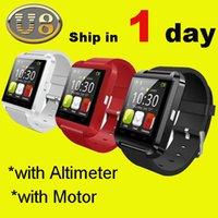 multi language smart watch - android smart watch bluetooth sport wrist watch waterproof watch phone u8 smart watch for iphone samsung note HTC android smart phone OTH014