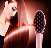 Wholesale 2015 Hot Sale Professional Hair Styling Straightener Irons Comb With LCD Display Electric Straightening Comb Straightener Iron Brush