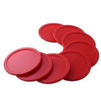 Wholesale 8Pcs mm Red ABS Air Hockey Children Table Mini Mallet Puck Goalies Air Pucks Ice pucks