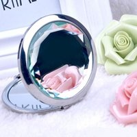 beauty compact mirror - Beauty Engraved Cosmetic Compact Mirror Crystal Magnifying Make Up Mirror Wedding Gift for Guests colors