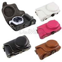 Wholesale New PU Leather Camera Case Cover Bag for Samsung Galaxy EK GC100 GC110 GC200 Strap MNB
