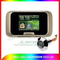 Venta al por mayor S12 digital visor de la puerta con 2,8 pulgadas TFT LCD Video puerta campana 0.3M píxeles cámara de la puerta