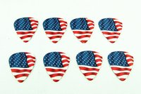 american flag picks - 50PCS mm Hot sale exquisite high quality two side errings pick DIY design The American flag pick guitar picks