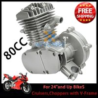 Wholesale Chrome Motorized Bicycle Bike cc Stroke Engine Single Cylinder for V Frame Mountain Bikr Road Bike Cruiser Chopper order lt no track