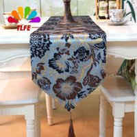 Wholesale TLFE New Table Runner European soft home Textile garden Table Cloth Cover wedding decoration stand runner chemin de table ZQ029