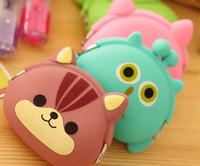 korea kids style - 2015 New Arrival Creative Korea D Animal Style Kid Purse Bag Silicone Wallet Bag Cartoon Coin Bag Totes Bag Cute Change Bag P