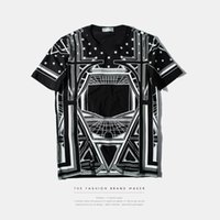 abstract shirt designs - T shirt Men D printed cotton short sleeved t shirt fashion brand D space design abstract round neck T shirt new mens tops tees S16
