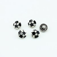 soccer ball lots - 20pcs High quality mm Metal Soccer Ball Snap Button Charm Button Ginger Snaps Jewelry SN041