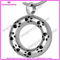 pet urns - IJD8029 cheap hot selling L stainless Steel Cremation urns ash jewelry for Pets Circle of life