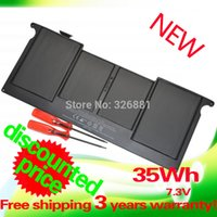 """Cheap 7.2V 35Wh Laptop Battery A1375 For Apple MacBook Air 11"""" A1370 (2010 Production) Free Shipping"""