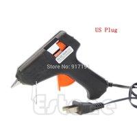 Wholesale W Electric Heating Hot Melt Glue Gun Sticks Trigger Art Repair Tool US EU Plug