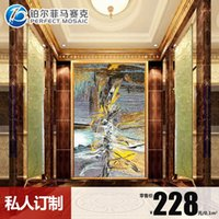 Wholesale Amalfi platinum fine cut mosaic Zao custom entrance living room bedroom TV backdrop teacher Publisher JH86