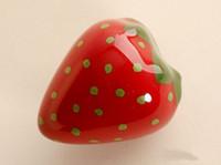 baby drawer pulls - Red strawberries Dresser Knob Pull Drawer Pulls Handles Knobs Ceramic Kitchen Cabinet Door Handle Pull Knob Baby Girls Children