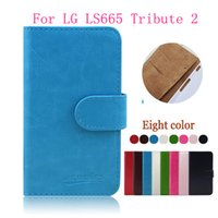 Wholesale 2015 Hot Sale Flip Leather For LG Volt LS751 Stand Wallet Leather Case For LG LS665 Tribute With Holder Phone Cover