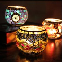 handmade candles - Mosaic Glass Candle Holder Handmade Glass Candle Holder For Wedding Decor Glass candle Holder For Home Decor