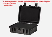 abs equipment case - 7 inch Impact ABS Plastic sealed waterproof safety equipment case portable tool box Dry Box for camera and outdoor equipment