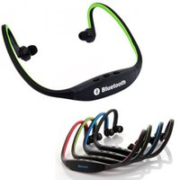 Wholesale Bluetooth Headphone S9 Wireless Stereo Headset Sports Bluetooth headband Neckband Earphone Bluetooth With Retail Package EAR044