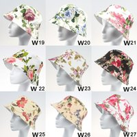Wholesale 2015 Fashion Casual Summer Cheapest Bucket Hats for Men and Women Bob Chapeau Hats Hunting Fishing Caps Outdoor Floral Hats