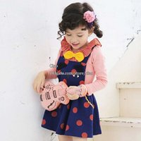 t-shirt dresses - Children Set Kids Suit Outfits Korean Girl Dress Children Clothes Kids Clothing Spring Long Sleeve T Shirt Girls Dresses Kids Sets L43771