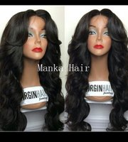 Wholesale Virgin Hair Heavy Density Body Wave Lace Front Human Hair Wigs For Black Women Glueless Brazilian Wigs Cheap Price