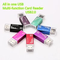 alluminum alloy - Micro SD Cards Reader USB All in One Alluminum Alloy Memory Card Reader for TF M2 MMC SDHC MS Card