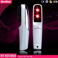 Wholesale Mini Electric Infrared Ray Growth Laser Hair Comb Treatment Vibrating Massager for home use